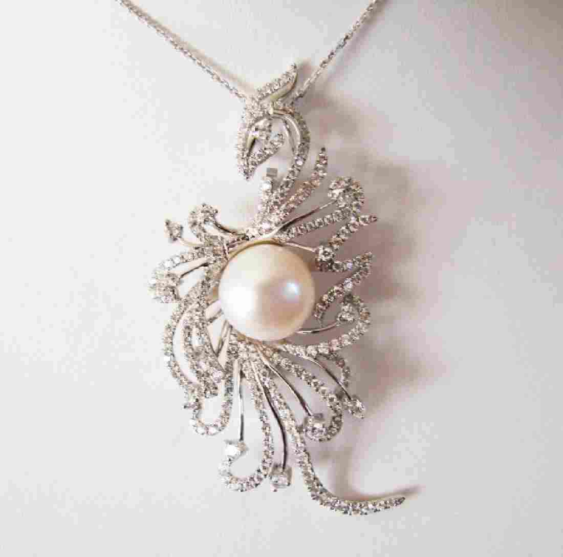 Culture Pearl Creation Diamond 2.49Ct 18k W/g OverW/g
