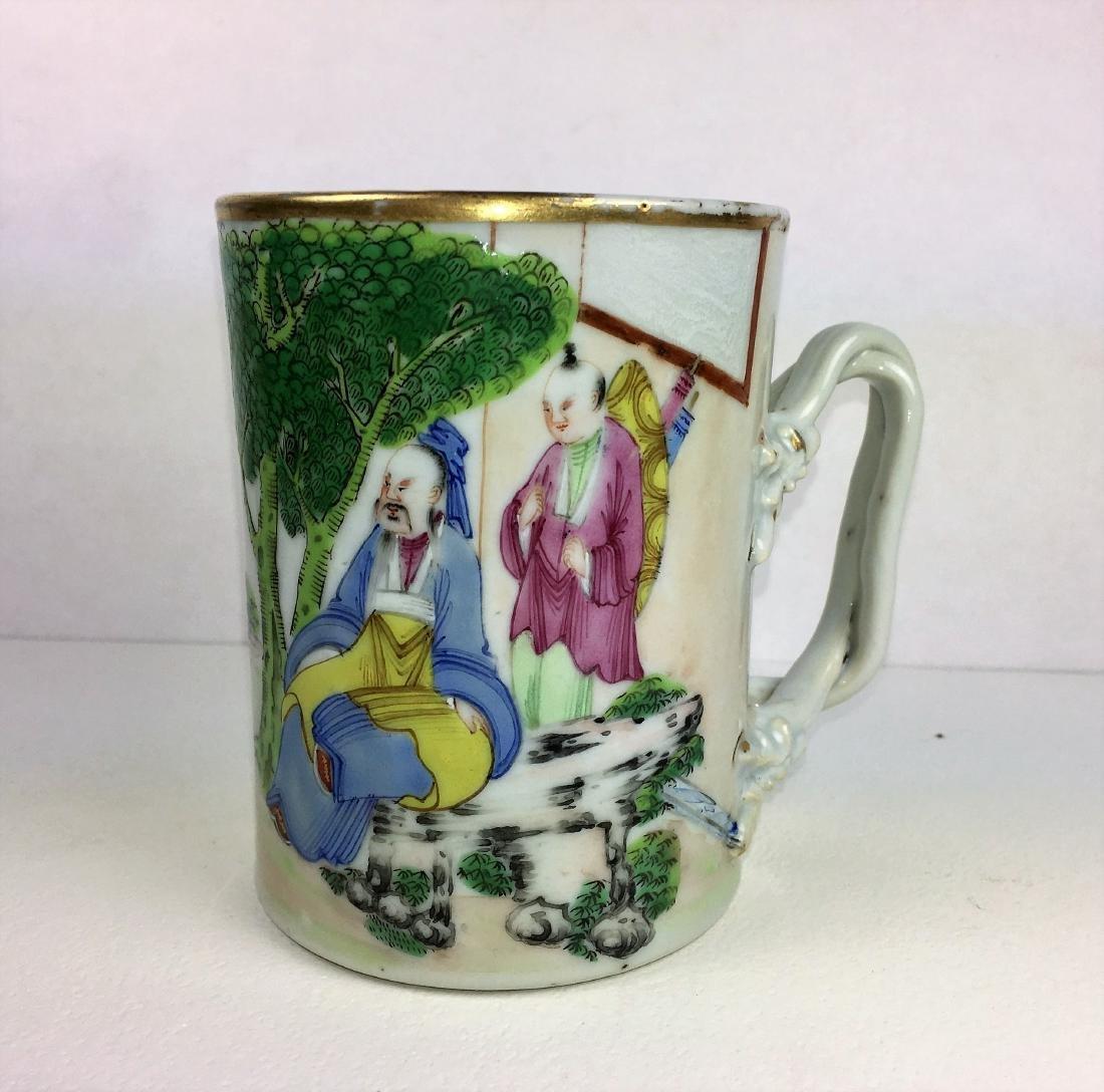 A Chinese Famille Rose Porcelain Mug