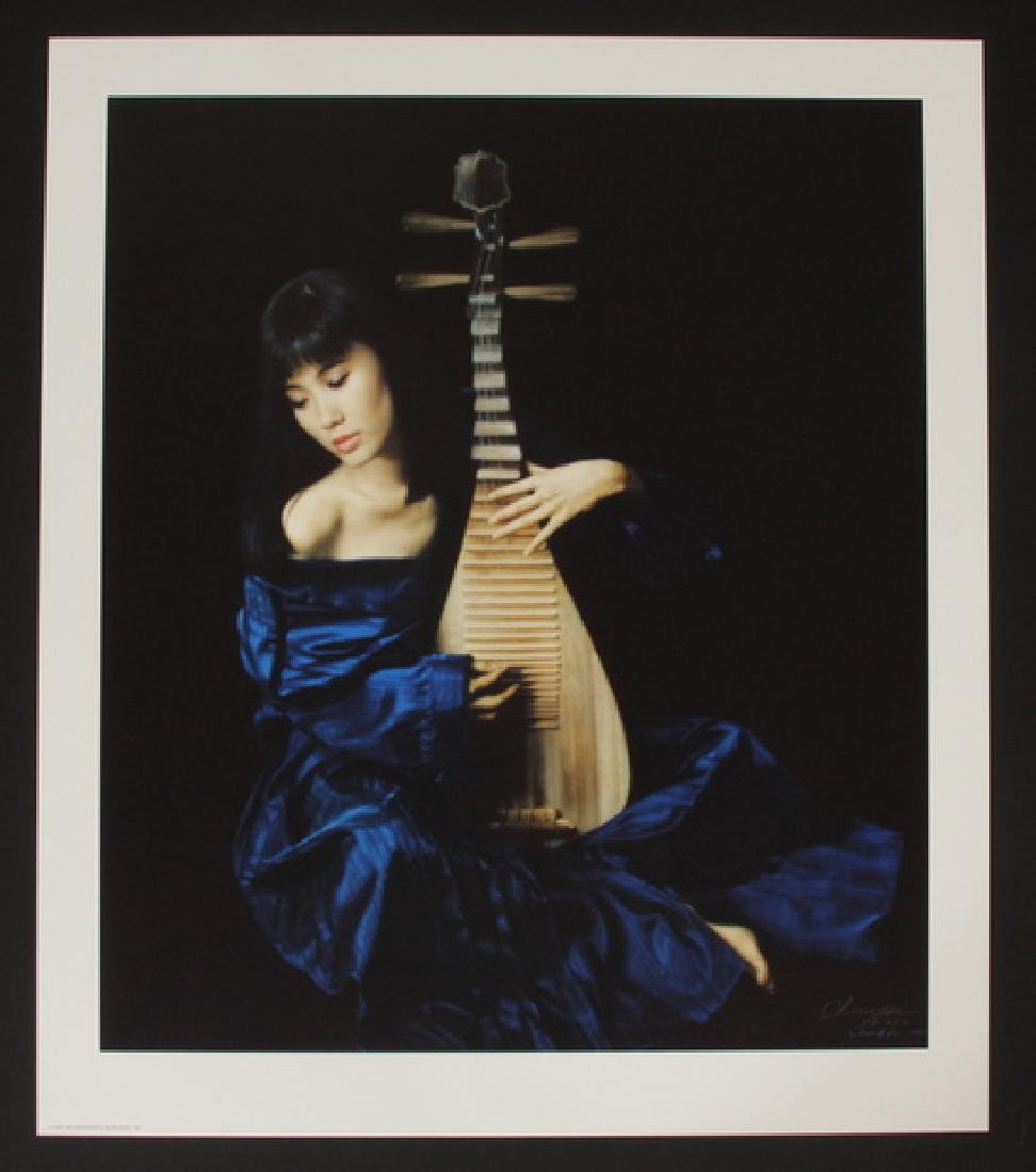 Chen Yifei Chromolithograph - Pi Pa Lady, Pencil Signed