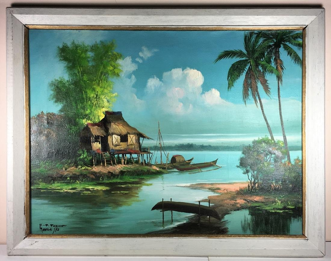 An Asian Oil Painting on Canvas by Philippine Artist
