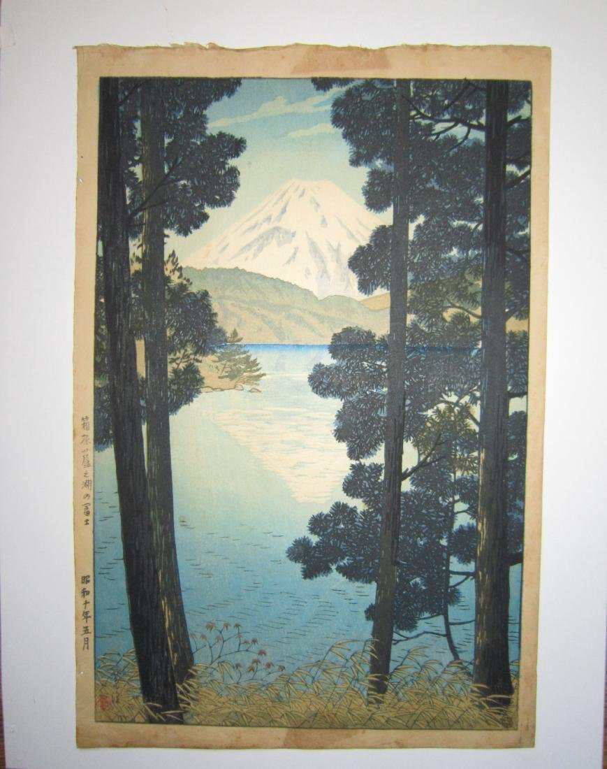 Japanese Woodblock Print by Shiro Kasamatsu