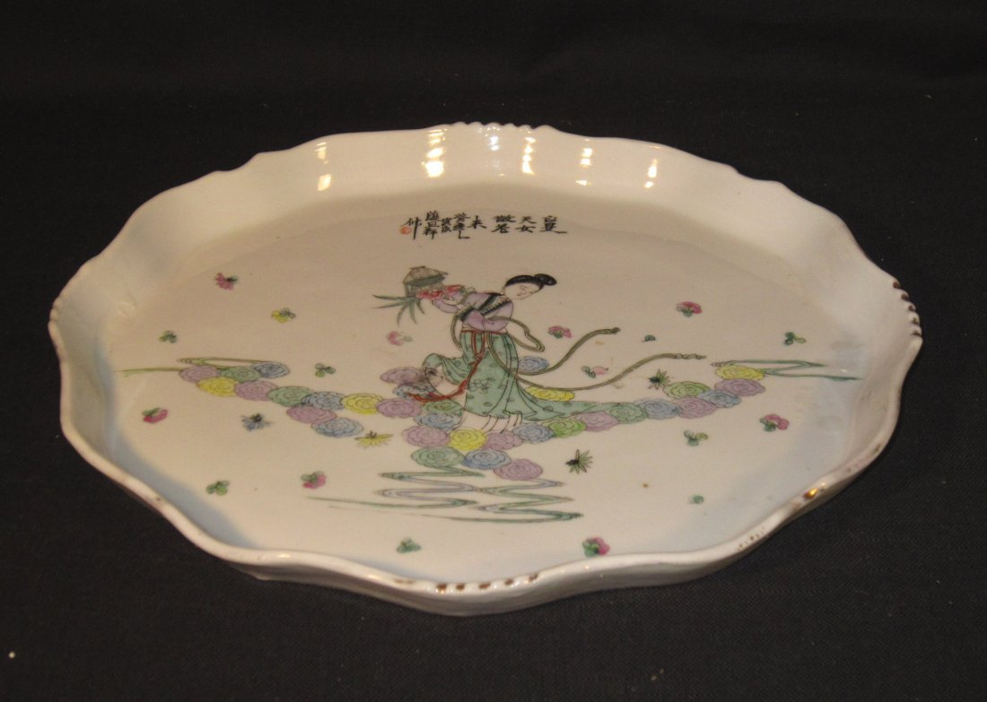 A Large Chinese Republic Porcelain Plate