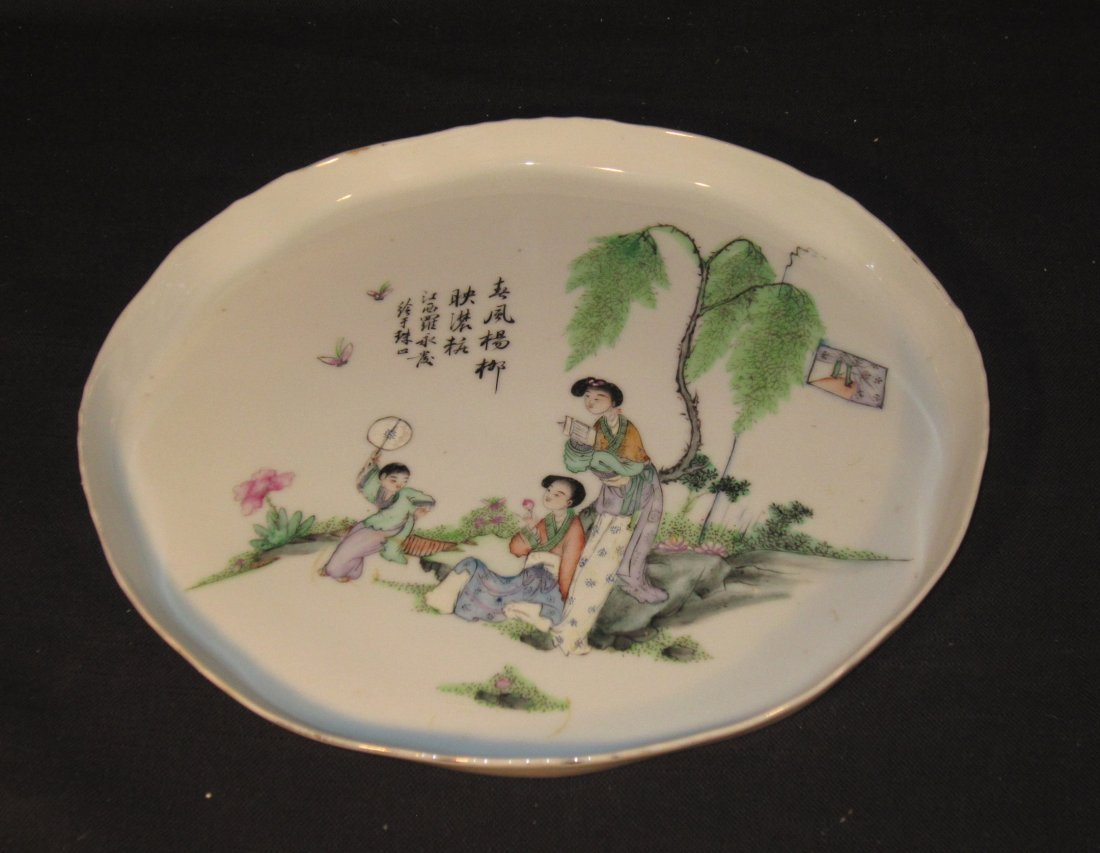 A Fine Chinese Republic Porcelain Plate by Luo Yongfa
