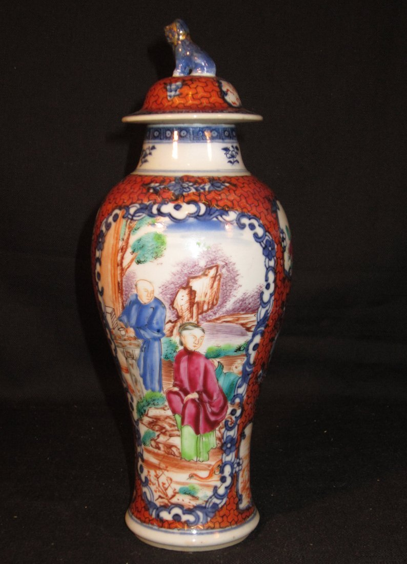 A Chinese Qianlong Export Famille Rose Vase and Cover
