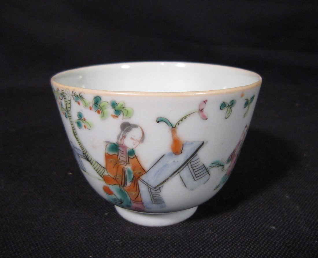 A Small Chinese Qing Famille Rose Cup