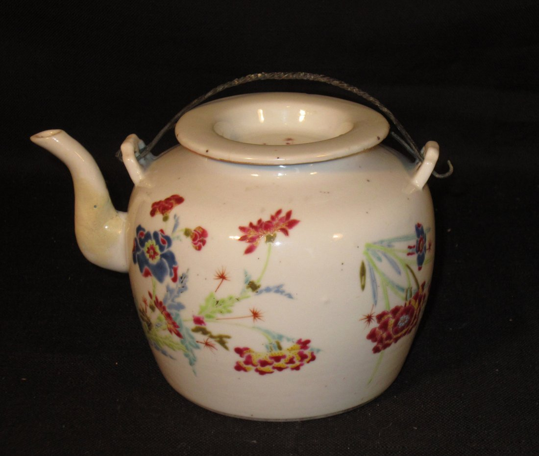 A Beautiful Chinese Yongzheng Famille Rose Teapot
