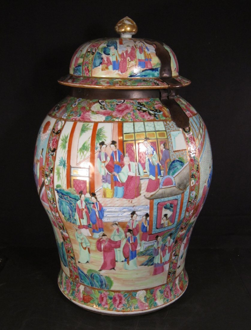 A Very Fine Large Chinese Canton Famille Rose Jar and
