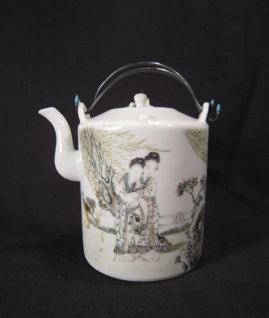 A Very Fine Chinese Light Famille Rose Teapot