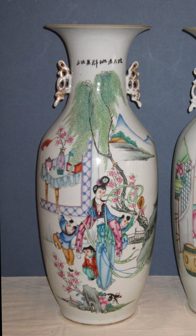 A Large Chinese Famille Rose Porcelain Vase