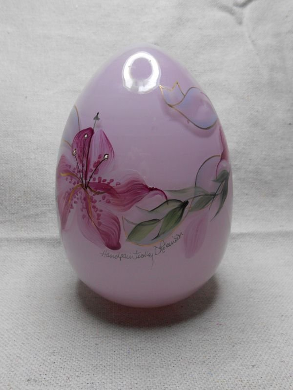 12: FENTON GLASS EGG