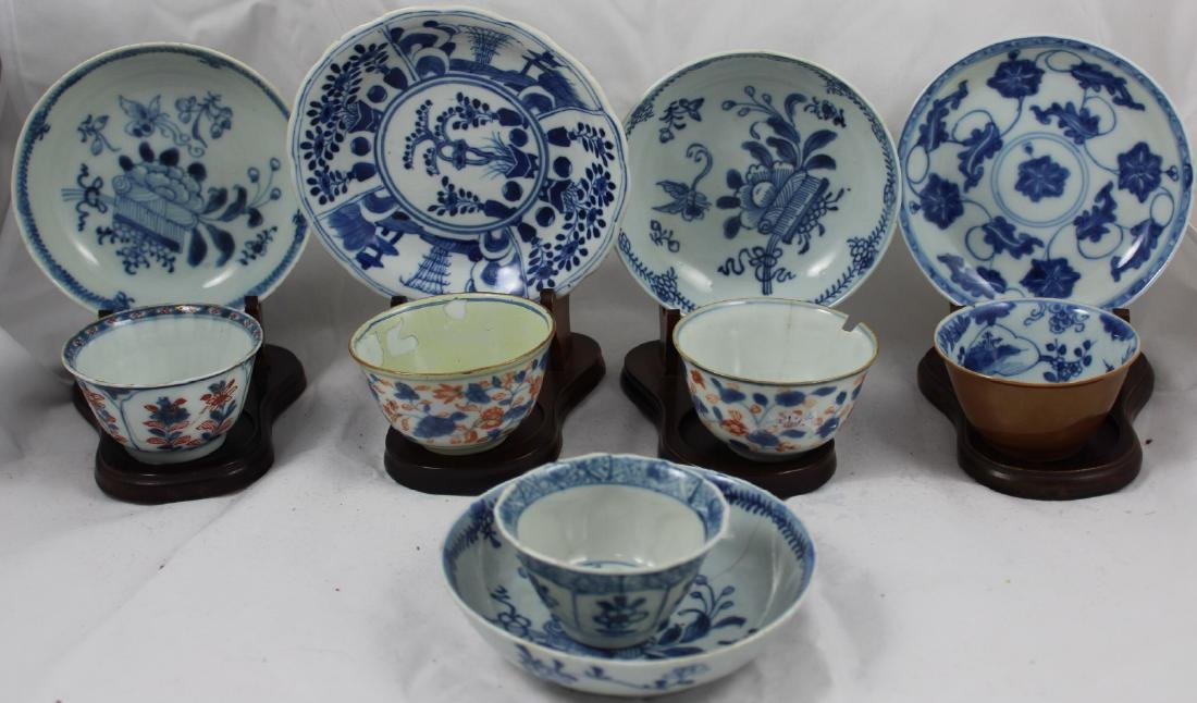GROUP OF TEN PORCELAIN CUPS AND SAUCERS (10X)
