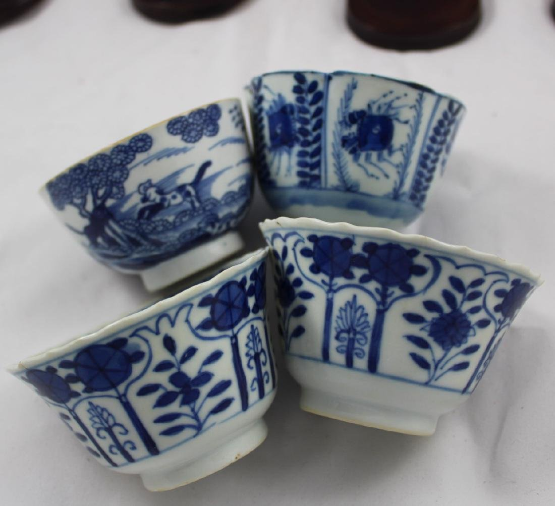 GROUP OF EIGHT CHINESE EXPORT PORCELAIN CUPS AND SAUCER - 2