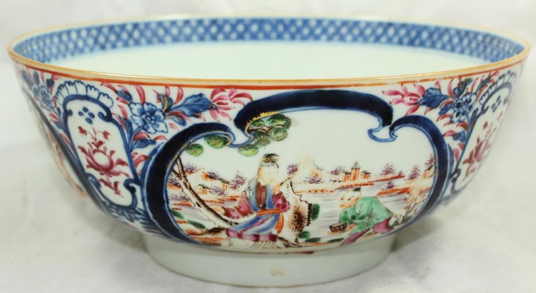 A Chinese Mandarin punch bowl