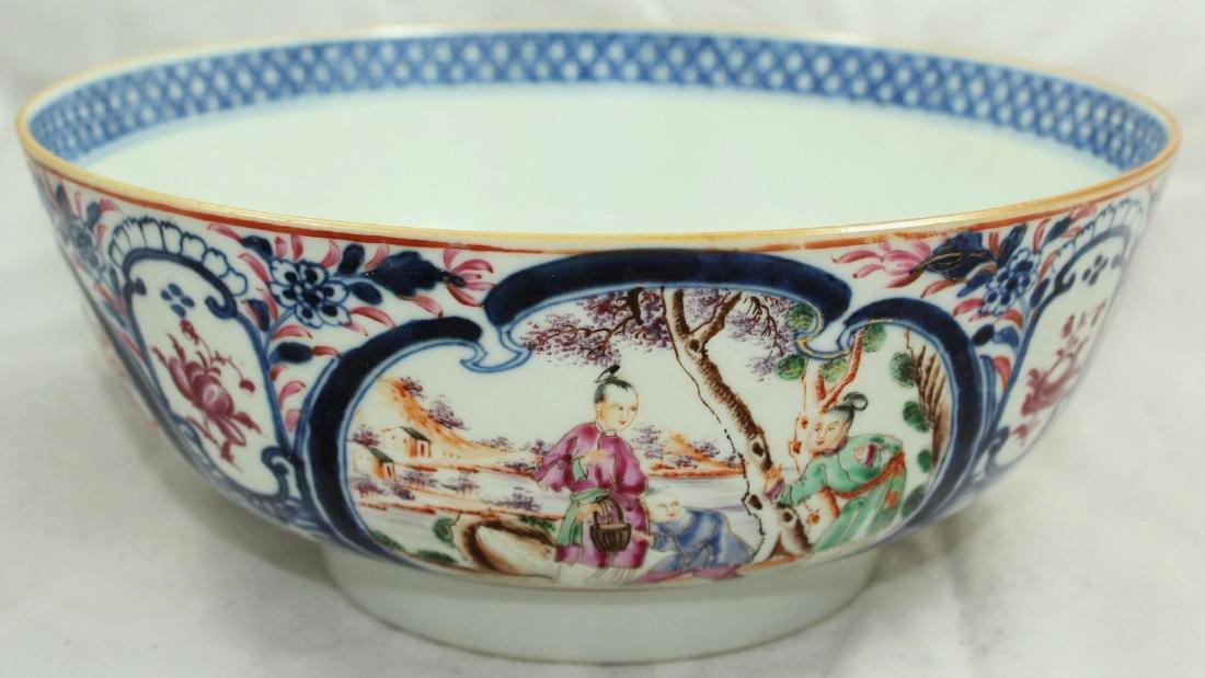 A Chinese Mandarin punch bowl - 3