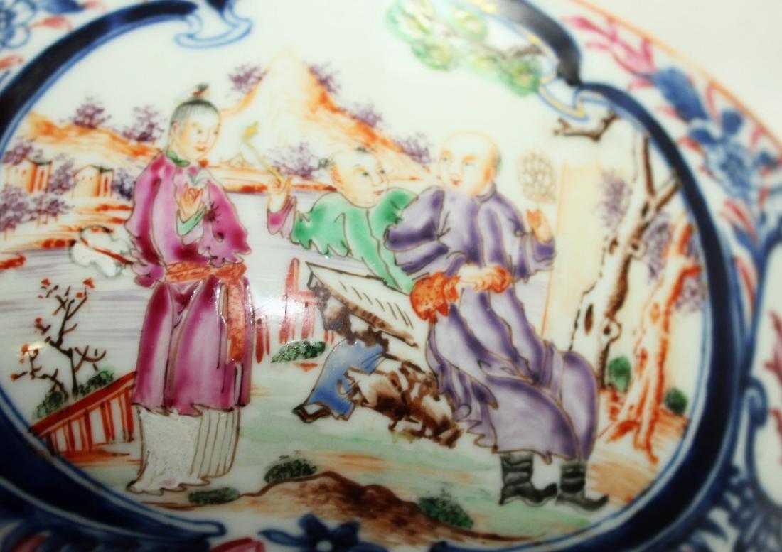 A Chinese Mandarin punch bowl - 8