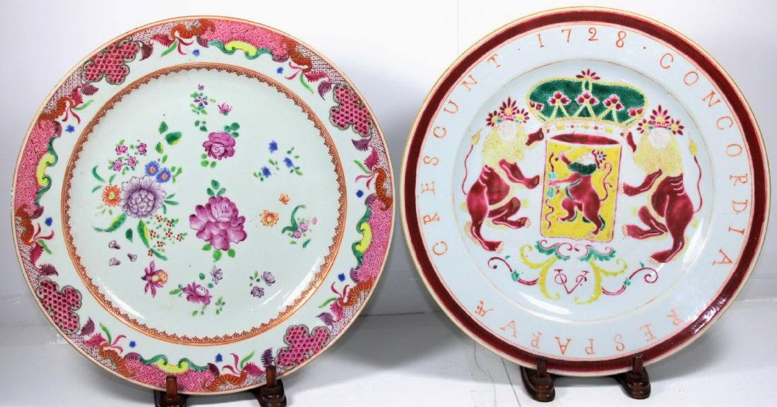 TWO CHINESE EXPORT PORCELAIN PLATES (2X)