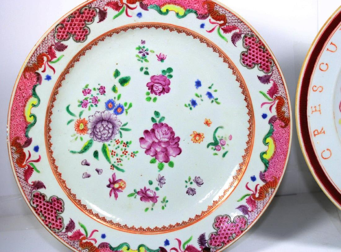 TWO CHINESE EXPORT PORCELAIN PLATES (2X) - 2
