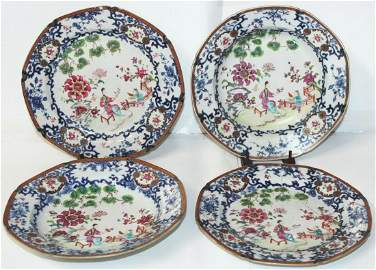 FOUR CHINESE EXPORT PLATES (4X)