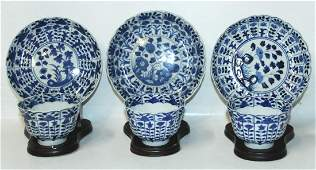 SIX CHINESE EXPORT CUPS/SAUCERS (6X)