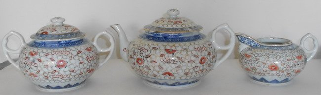 1008: Chinese porcelain teaware set.