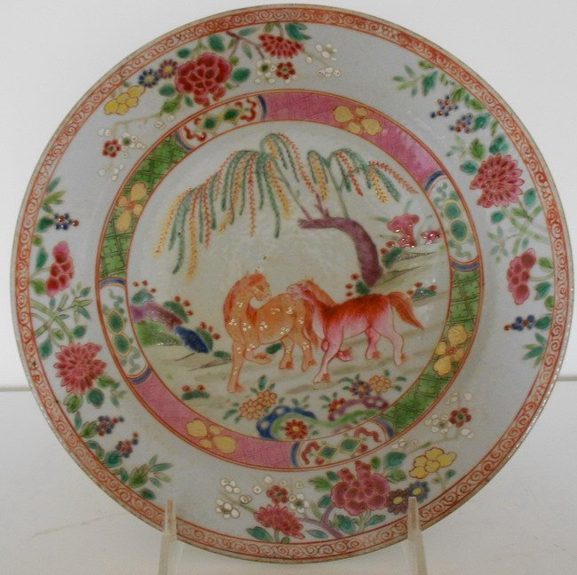 1021: Chinese famille rose export plate.