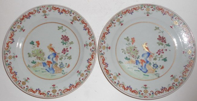 1008: A pair of Chinese export plates.