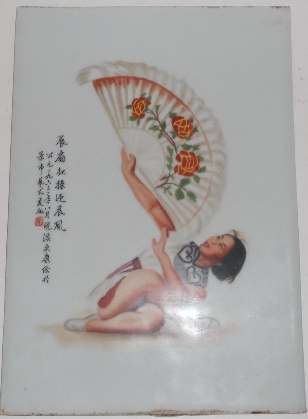 1020: A Chinese porcelain plaque.