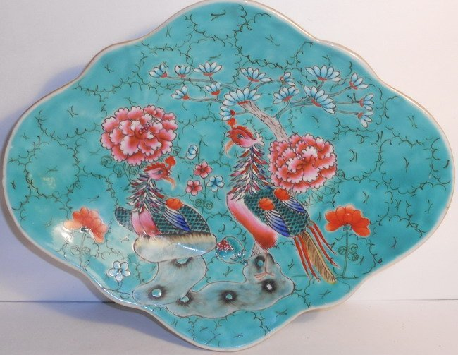 A Chinese famille rose footed bowl.