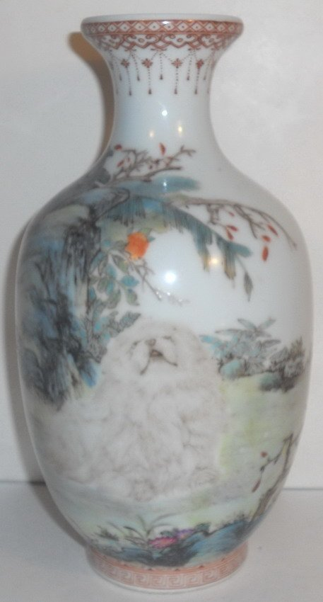 A Chinese famille rose vase.