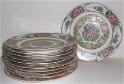 A set of eleven Canton export plates. (11x)