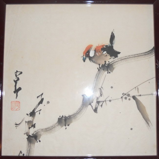 A Chinese watercolour painting.