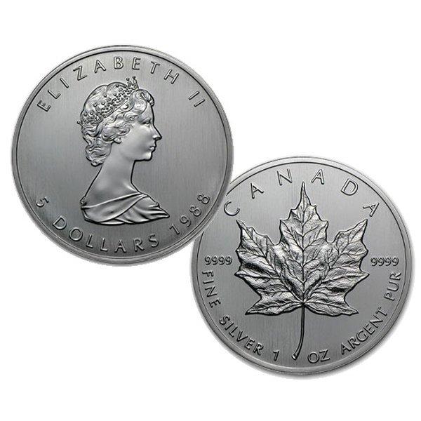 1988 1 Oz BU Canadian Silver Maple Leaf - First Year!