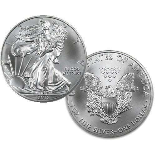 2012 1 Oz BU Silver American Eagle