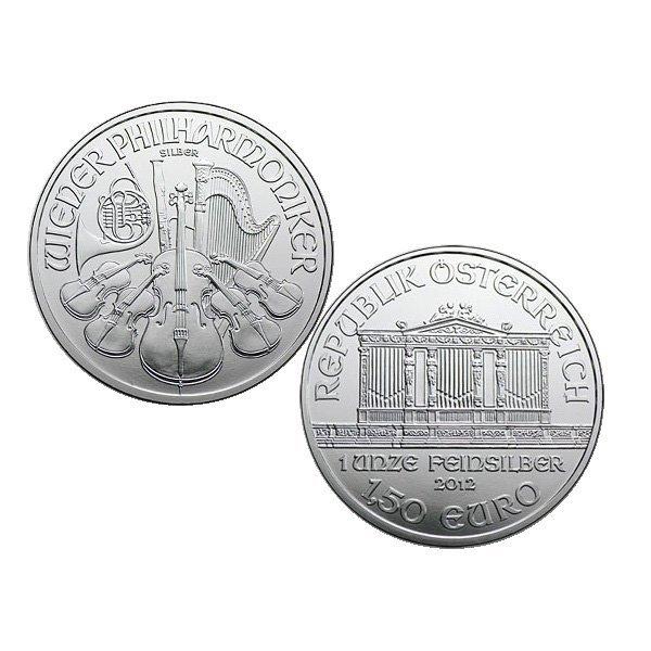 2012 1 Oz BU Silver Austrian Vienna Philharmonic