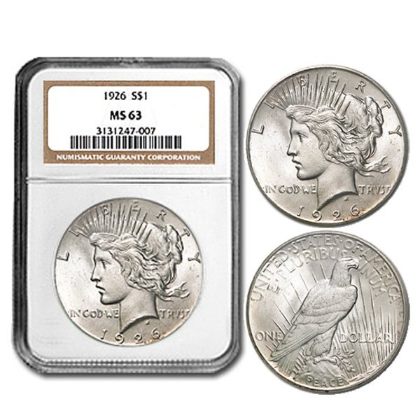 1926 Peace Silver Dollar NGC MS-63