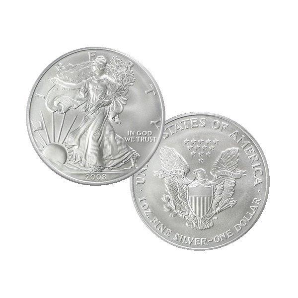 1 Oz BU Silver American Eagle - Random Date!