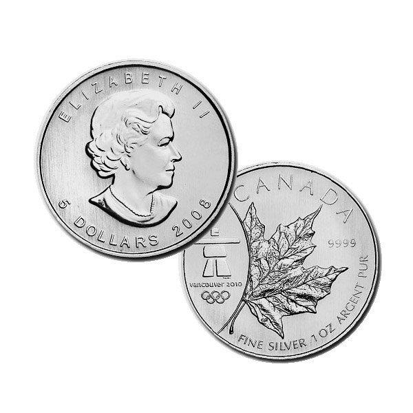 2008 1 Oz BU Canadian Silver Maple Leaf - Vancouver