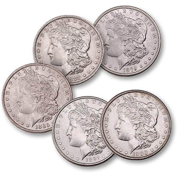 (5) Morgan Silver Dollars