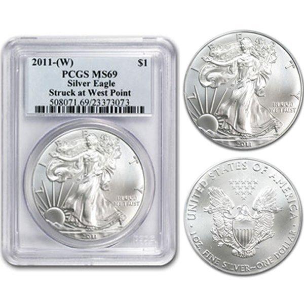 2011-(W) 1 Oz Silver Eagle MS69 PCGS West Point Label