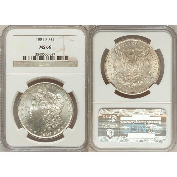 1881-S $1 Morgan Silver Dollar MS66 NGC