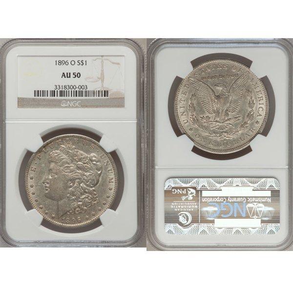 1896-O $1 Morgan Silver Dollar AU50 NGC