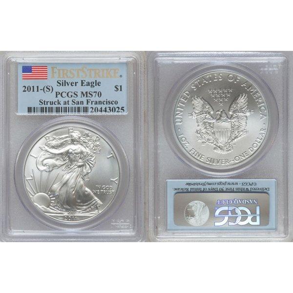 2011-(S) $1 Silver Eagle FS MS70 PCGS San Francisco Lab