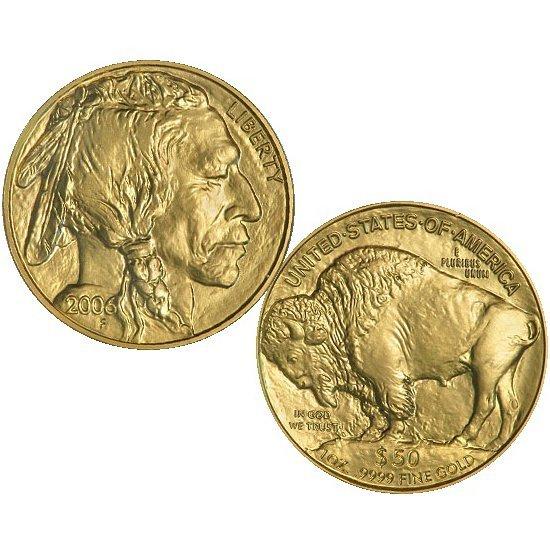 2006 $50 1 Oz 24k Gold Buffalo Brilliant Uncirculated