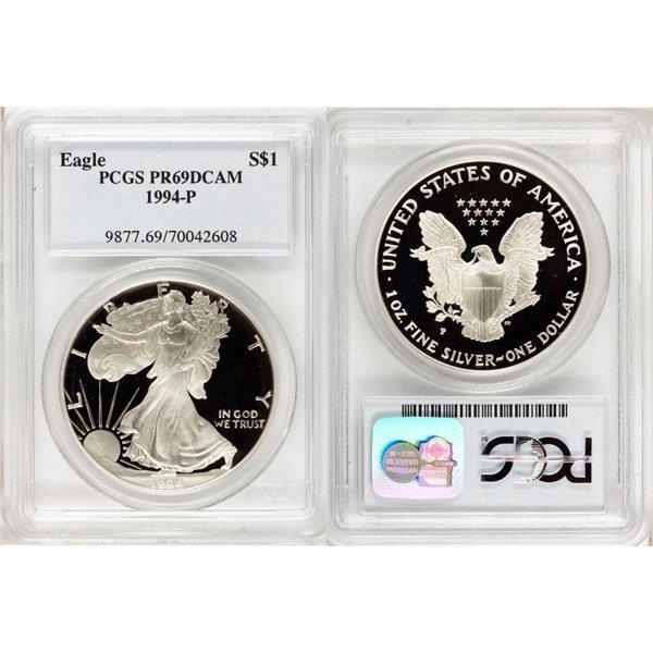 1993-P $1 Proof Silver Eagle PR69DCAM PCGS