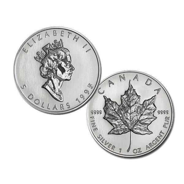 1995 1 Oz BU Canadian Silver Maple Leaf - Semi-Key Date