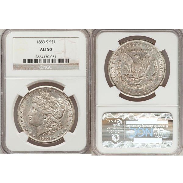 1883-S $1 Morgan Silver Dollar AU50 NGC