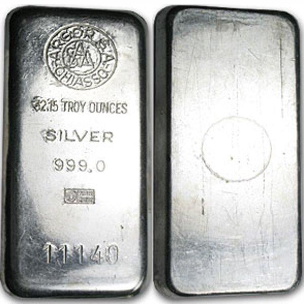 1 Kilo (32.15 Oz) Argor S. A. Chiasso Design Silver Bar