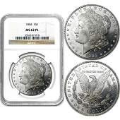 1884 1 Morgan Silver Dollar MS62 Proof Like NGC