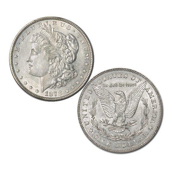 1878 $1 AU Morgan Silver Dollar 7 TF Rev of 1878