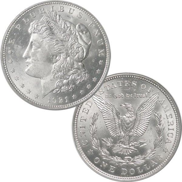 1921 $1 Morgan Silver Dollar - Brilliant Uncirculated